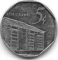 *cuba 5 Centavos 1994  Km 575.1 Xf+ Onley 1 Date In Km - Cuba