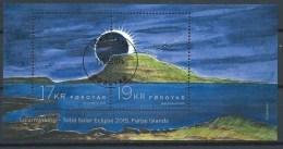 Iles Féroé 2015 Bloc F828 Oblitéré éclipse Solaire - Féroé (Iles)