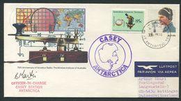 AUSTRALIE 1986 Casey Antarctic Barometre Lettre Par Avion Pour La Suisse Signature - Covers & Documents