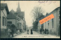 Mayet Entrée Par La Rue D'Ecommoy Ed Bouveret Rue Animée Carte Pionnière 1904 - Mayet