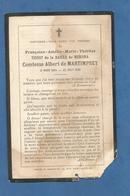 IMAGE GENEALOGIE FAIRE PART AVIS DECES NOBLESSE COMTESSE TISSOT DE LA BARRE DE MERONAT DE MARTIMPREY 1902 - Décès