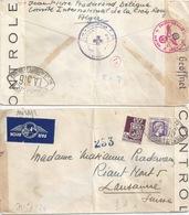 """Zensur Brief  """"Delegation Croix Rouge, Alger"""" - Lausanne        Ca. 1944 - Algeria (1924-1962)"""