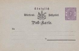 Carte Entier Postal - Wurttemberg