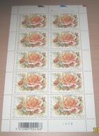 "België 3383** Gentse Floraliën VI - Rozen (With Scent Of Flowers , Met Bloemengeur/Aroma) Rosa ""Belinda"" Pl 2 - Panes"