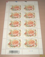 "België 3383** Gentse Floraliën VI - Rozen (With Scent Of Flowers , Met Bloemengeur/Aroma) Rosa ""Belinda"" Pl 5 - Panes"
