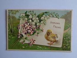 Joyeuses Pâques - Carte Relief - Pasen