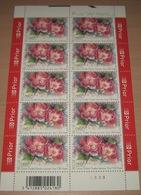 """België 3385** Gentse Floraliën VI - Rozen (With Scent Of Flowers , Met Bloemengeur/Aroma) Rosa """"Old Master"""" Pl 3 - Kleinbögen"""