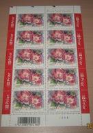 """België 3385** Gentse Floraliën VI - Rozen (With Scent Of Flowers , Met Bloemengeur/Aroma) Rosa """"Old Master"""" Pl 5 - Kleinbögen"""