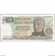 TWN - ARGENTINA 314a - 50 Pesos Argentinos 1983-85 Serie A - Signatures: Lopez & Del Solar UNC - Argentina
