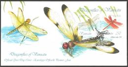 Vanuatu - Dragonflies Of Vanuatu, FDC With Souvenir Sheet, 2012 - Vanuatu (1980-...)