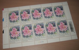 "België 3384** Gentse Floraliën VI - Rozen (With Scent Of Flowers , Met Bloemengeur/Aroma) Rosa ""Pink Iceberg"" Pl 2 - Panes"