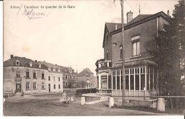 ATHUS CARREFOUR DU QUARTIER DE LA GARE FELDPOST ALLEMAND 1401mp - Aubange
