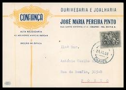 CHAVES -PUBLICIDADE - « CONFIANÇA » -  Ourivesaria E Joalharia - José Maria Pereira Pinto. Carte Postale - Vila Real
