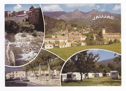 07 Jaujac Vers Aubenas N°142 En 4 Vues Camping Caravanes Vue Générale Pont Place Citroën 2CV En 1986 - Aubenas