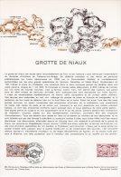 """"""" GROTTE DE NIAUX """" Sur Document Philatélique Officiel 1°Jour De 1979. N° YT 2043. Parfait état . DPO - Préhistoire"""