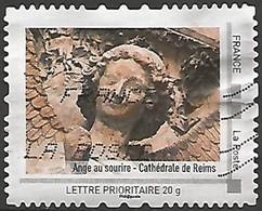 FRANCE ID TIMBRE LE SOURIRE DE L'ANGE DE REIMS OBLITERE - Personalizzati (MonTimbraMoi)