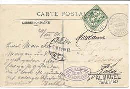 ALMAGEL (WALLIS) Cachet Linéaire + SAAS-GRUND 1905 + HOTEL MATTMARK SAAS-WALLIS Carte Postale Mont-Rose. Valais - Lettres & Documents