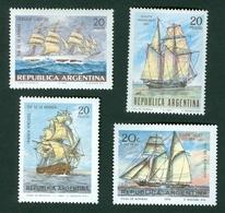 Argentina Sailing Ship Sail Mi 963 995 1020 1062 - Buenos Aires (1858-1864)