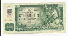 Slovakia 100 Korun 1961 VF - Slowakije