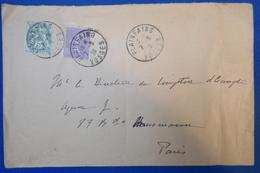 369 FRANCE LETTRE 1928 PLAINAING A PARIS HAUSSMANN AFFRANCHISSEMENT PLAISANT - France