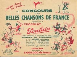 Publicité Chocolat Poulain - Concours Des Belles Chansons Françaises (Entrez Dans La Danse) - Mars 1952 - Chocolate