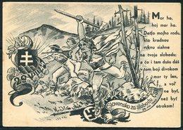 1944 Slovak National Uprising, SNP Propaganda Postcard - Covers & Documents