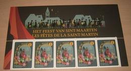 België 2012 Het Feest Van Sint-Maarten 4279** La Fête De La Saint-Martin - 5 Timbres En Demi-feuille Avec Bande Latérale - Belgium