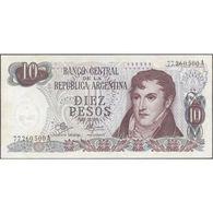 TWN - ARGENTINA 289d - 10 Pesos 1970-73 Serie A - Signatures: Mancini & Brignone F/VF - Argentina