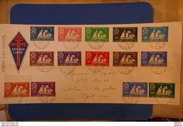 34 ST PIERRE ET MIQUELON 1942 LETTRE FRANCE LIBRE AFFRANCHISSEMENT PLAISANT - St.Pierre Et Miquelon