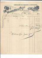 Haute Garonne 31 Toulouse GAMBETTA ET PUJOL, BEURRES ET FROMAGES FACTURE DATEE 1907 - Alimentaire