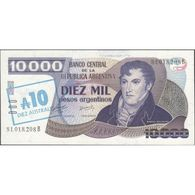 TWN - ARGENTINA 322c - 10/10000 10/10.000 Australes/Pesos 1985 Serie B - Signatures: Alonso & Concepcion AU/UNC - Argentina