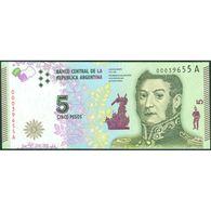 TWN - ARGENTINA 359 - 5 Pesos 2014-2015 Serie A - Signatures: Vanoli & Boudou UNC - Argentina