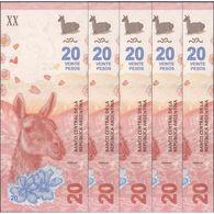 TWN - ARGENTINA 361 - 20 Pesos 2017 DEALERS LOT X 5 - Serie A - Signatures: Sturzenegger & Michetti UNC - Argentina