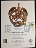 """Spain, Maximum Card, """"Sant Jordi 2003"""", """"Philatelic And Numismatic Event"""", 2003 - Other"""