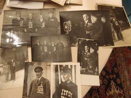 Lot De 8 Photos Sauveteur En Mer Gildas Bihan Ile De Groix Amiral Lacaze Médailles Décorations Légion D'honneur - Krieg, Militär