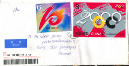 P. R. Of China Registered Air Mail Cover Sent To Denmark 14-4-2006 Topic Stamp Olympic Games - 1949 - ... People's Republic