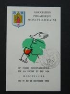 Carte Postale De L'Association Phiatélique De Montpellier - Expositions Philatéliques