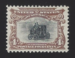 US #296 1901 Red Brown & Black Perf 12 Mint NG VF SCV $70 - Unused Stamps
