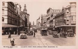 Melbourne, Elizabeth Street, From Lonsdale Street, The Rose Séries De Luxe, (P.1701) - Melbourne