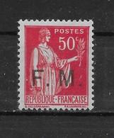 Franchise Militaire N° 7a Type III ** TTBE - Cote Y&T 2020 De 20 € - Franchise Stamps