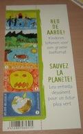 4014/18** Red De Aarde / Bloc Sauvez La Planète MNH / 1/2 Feuillet Fête Du Timbre - Kindertekeningen - Belgium