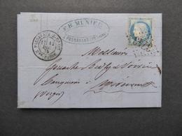 """FRANCE """"GROS CHIFFRES"""" Indice 23 Sur Lettre N° 3742 Passavant Sur Coney RHONE (69) Deuxième Et Dernier Exemplaire - 1871-1875 Cérès"""