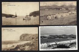 Conjunto De 4 Postais Antigos De S.MARTINHO Do PORTO / ALCOBAÇA. Set Of 4 Old Vintage Postcards (Leiria) PORTUGAL - Leiria