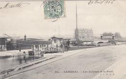 Postcard Cambrai Les Ecluses Et Le Pont PU 1906 [ Canal Boat & Locks ] My Ref  B13901 - Cambrai