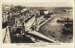 Malta - General View Of Valletta And Entrance To Grand Harbour - Malta