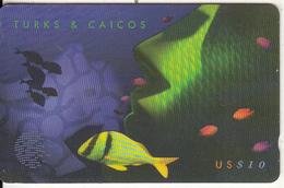 TURKS & CAICOS ISL.(GPT) - Green Fish(puzzle 2/3), CN : 108CTCB(normal 0), Tirage %30000, Used - Turks & Caicos (I. Turques Et Caïques)