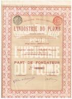Titre Ancien - Compagnie Franco-Belge Pour L'Industrie Du Plomb - Titre De 1907 - Mines