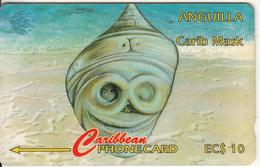 ANGUILLA(GPT) - Carib Mask, CN : 4CAGA, Tirage 5000, Used - Anguilla