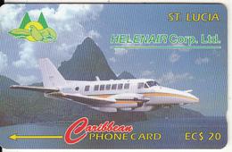 ST.LUCIA ISL.(GPT) - Helenair, CN : 15CSLA, Tirage 14692, Used - Santa Lucia