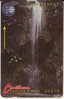 MONTSERRAT(GPT) - Waterfall, CN : 3CMTA, Tirage 15500, Used - Montserrat